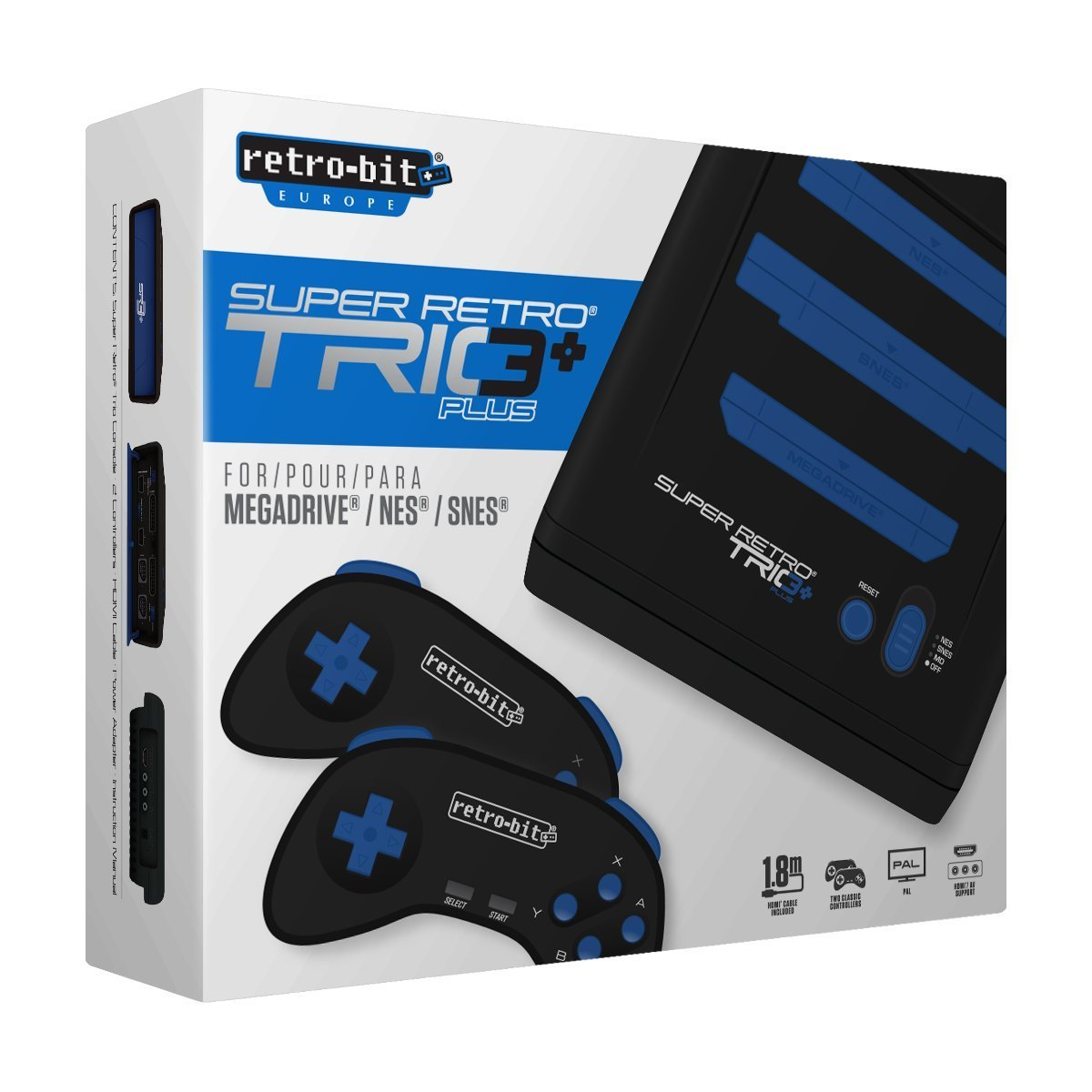 "Packshot for ""Retro-Bit Super Retro Trio+ HD PAL"""