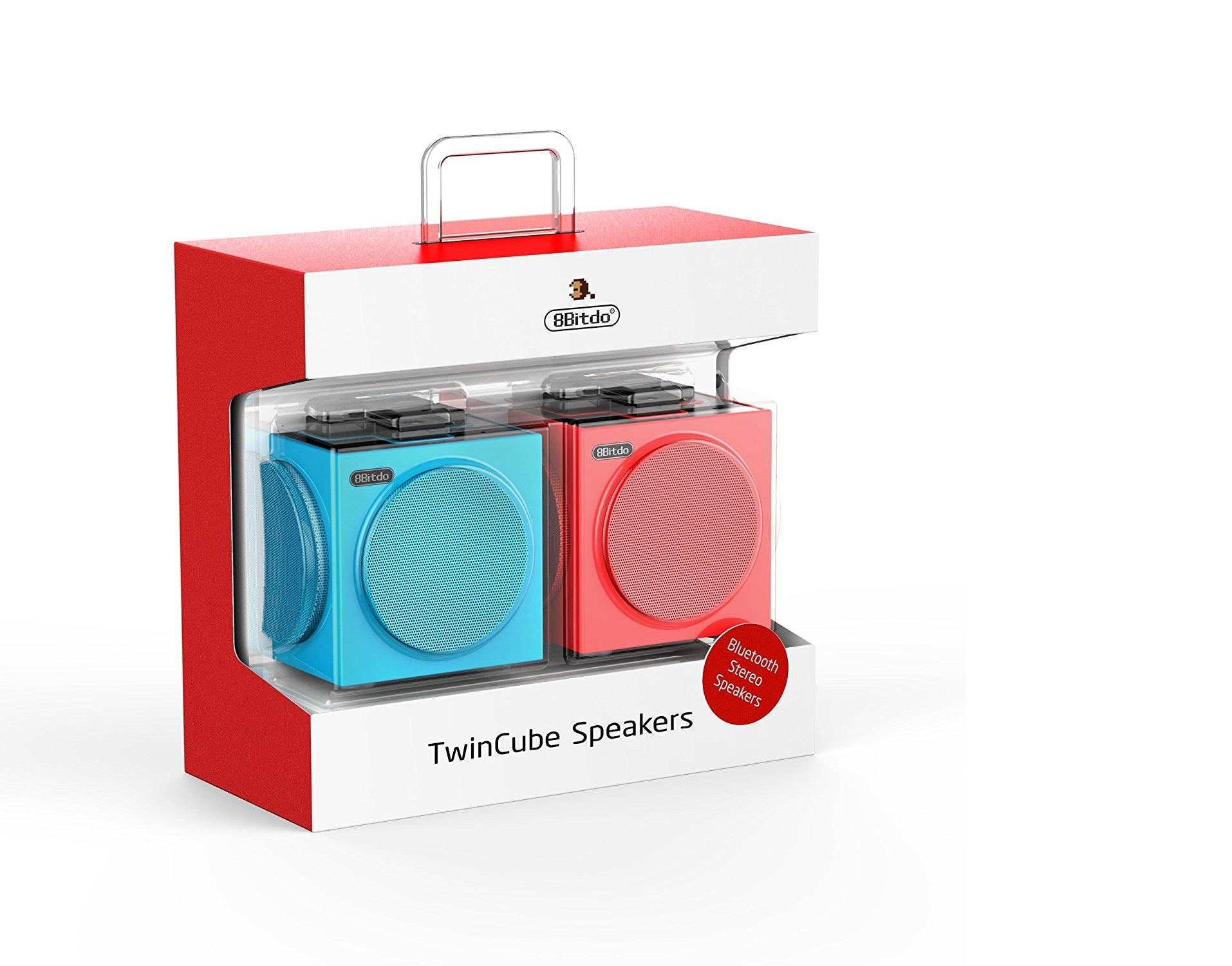 """Packshot for """"8bitdo TwinCube Speakers"""""""