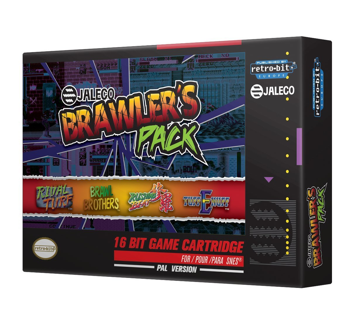 "Packshot for ""Retro-Bit Jaleco Brawlers Pack SNES"""