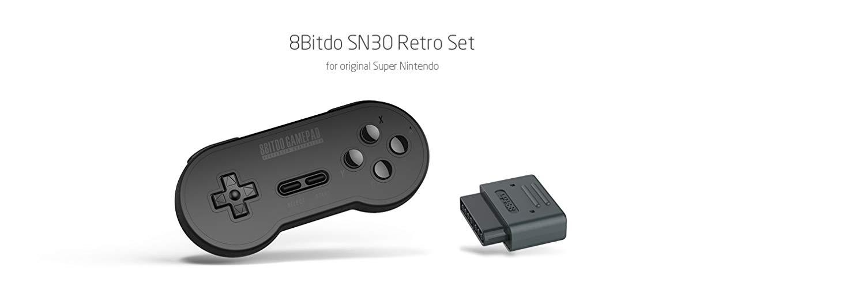 "Packshot for ""8Bitdo SN30 Retro Set Black Edition"""