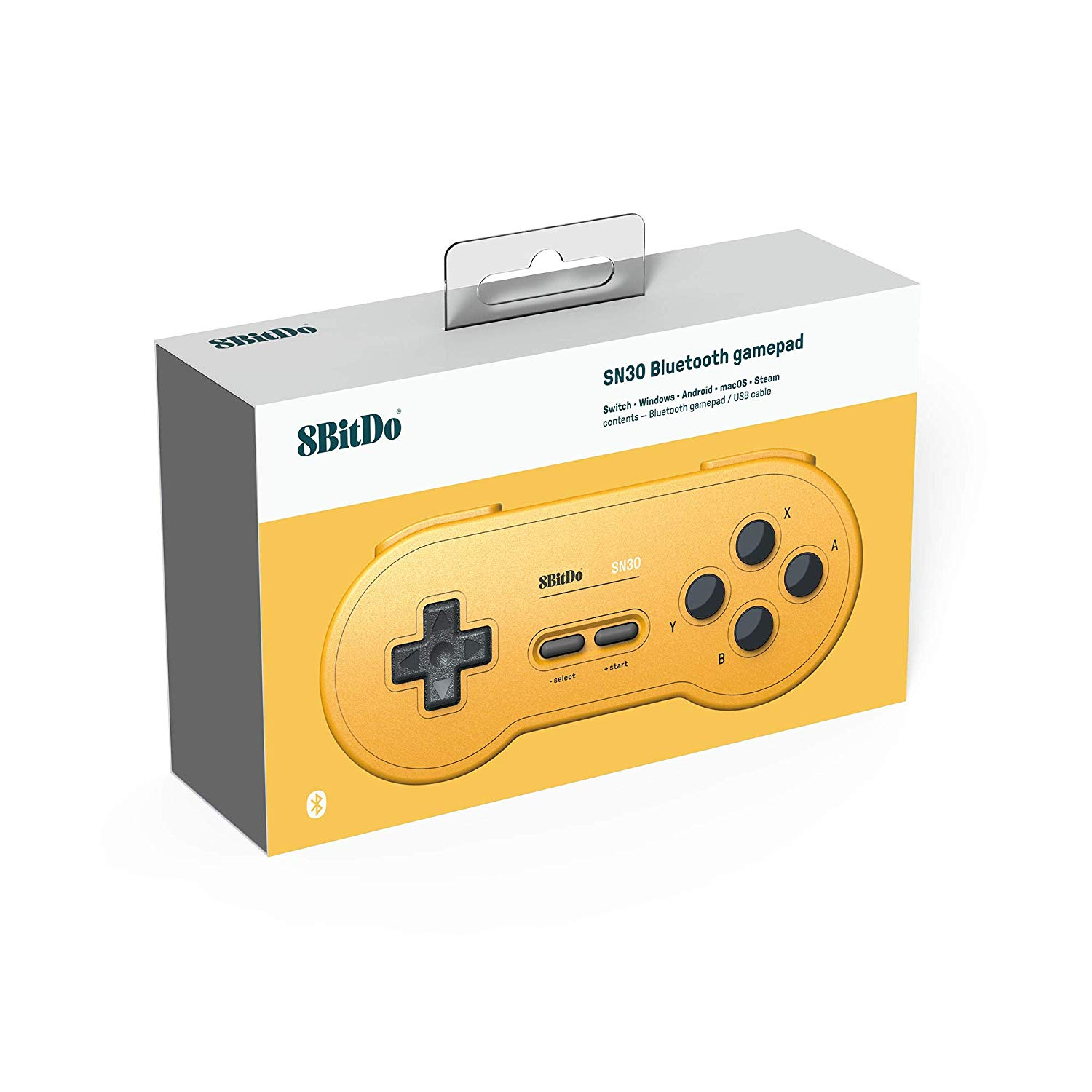 "Packshot for ""8Bitdo SN30 GP Yellow Ed. Gamepad"""