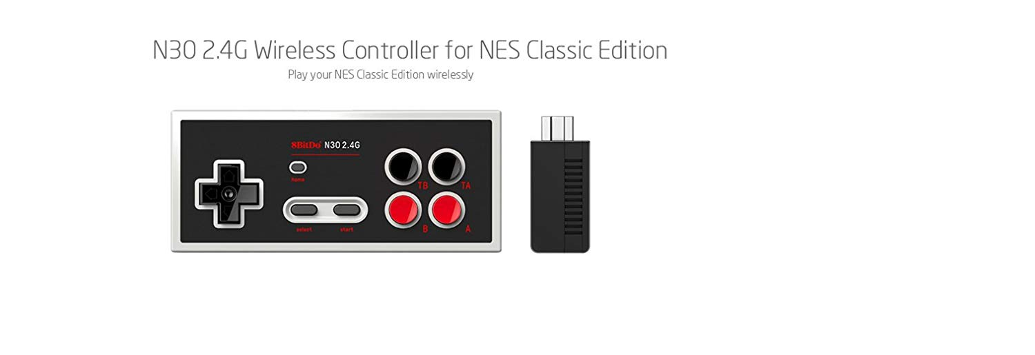 "Packshot for ""8Bitdo N30 2.4G NES Mini Gamepad"""