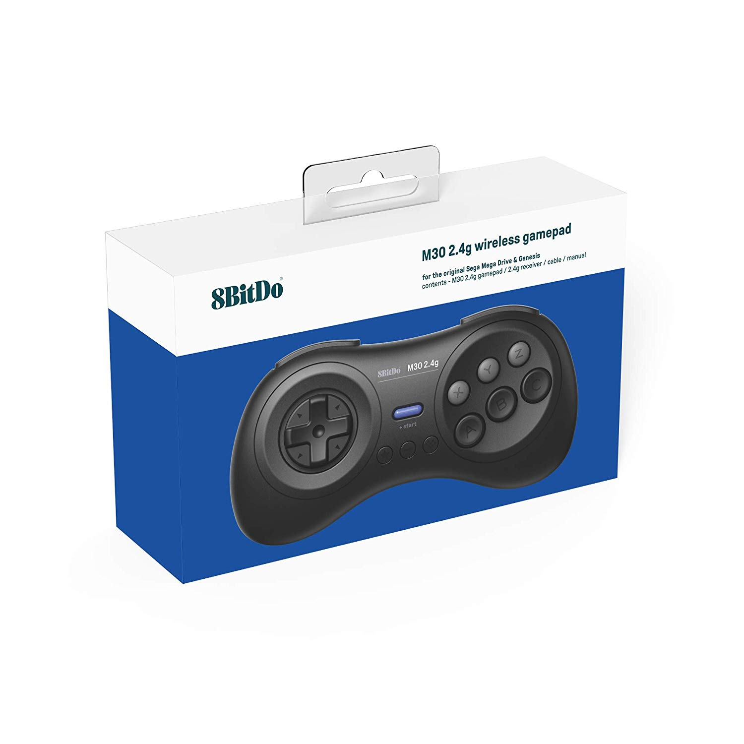 "Packshot for ""8bitdo M30 2.4G Mega Drive Black"""