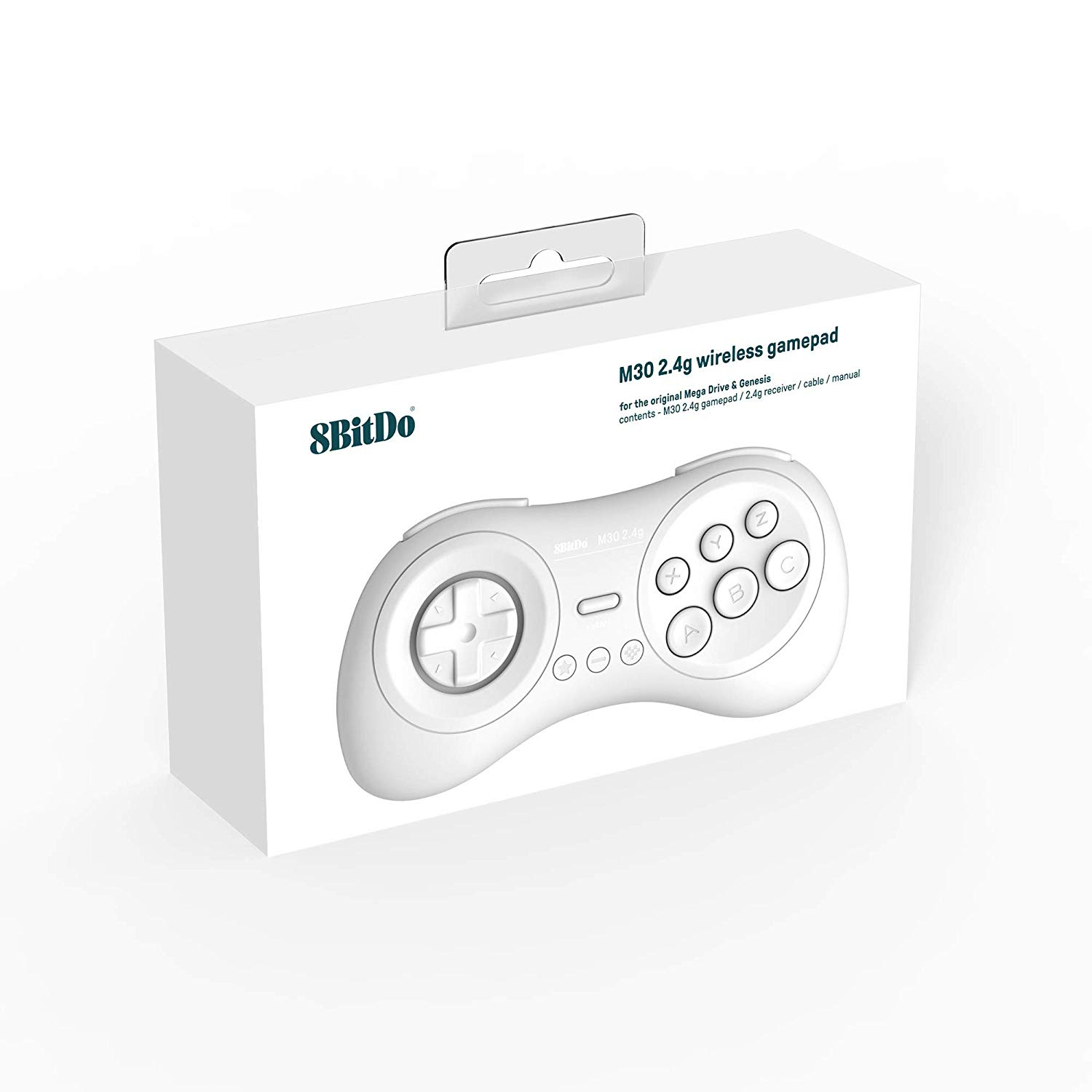 "Packshot for ""8bitdo M30 2.4G Mega Drive White"""