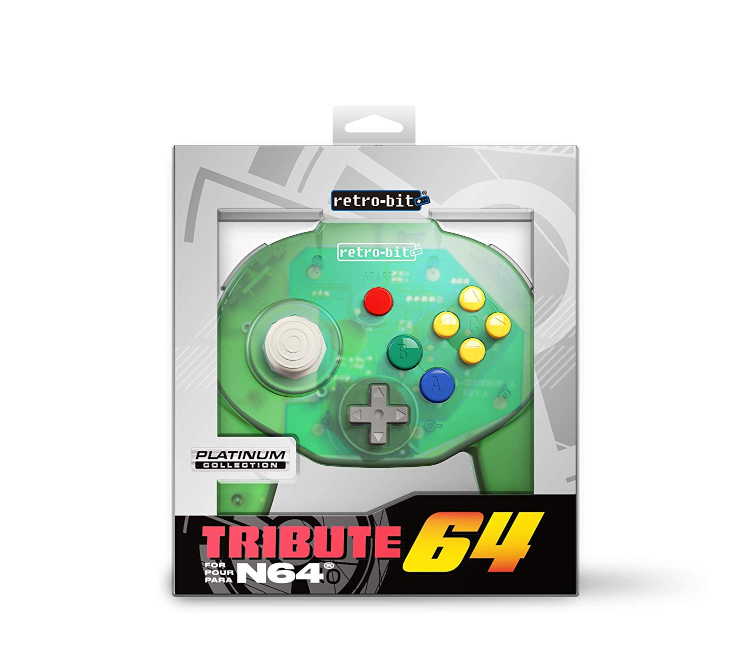 "Packshot for ""Retro-Bit Tribute 64 Forest Green"""