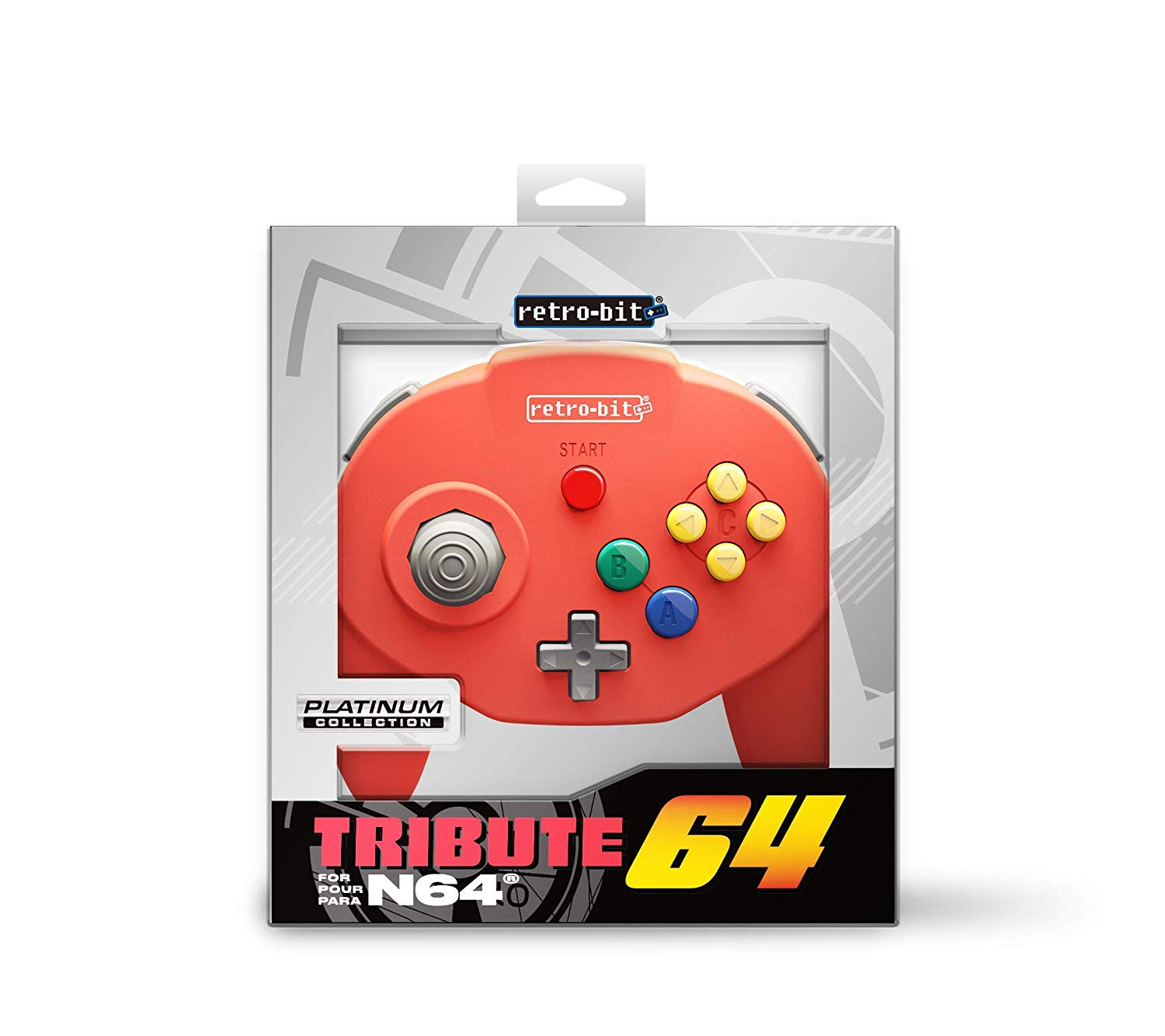"Packshot for ""Retro-Bit Tribute 64 Red"""