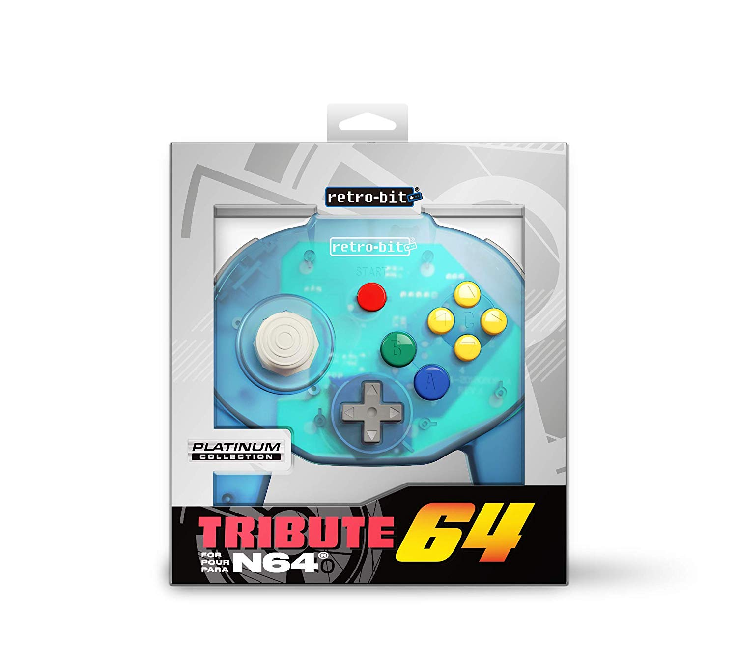 "Packshot for ""Retro-Bit Tribute 64 Ocean Blue"""