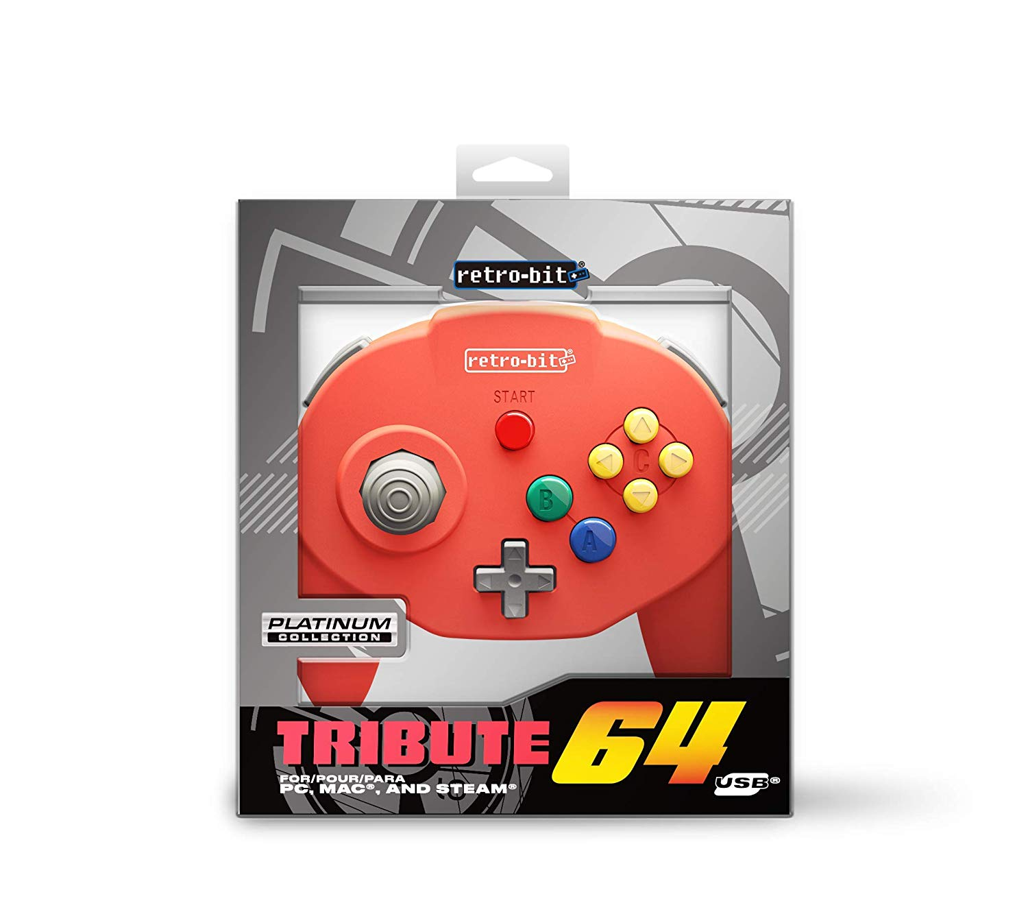 "Packshot for ""Retro-Bit Tribute 64 USB Red"""