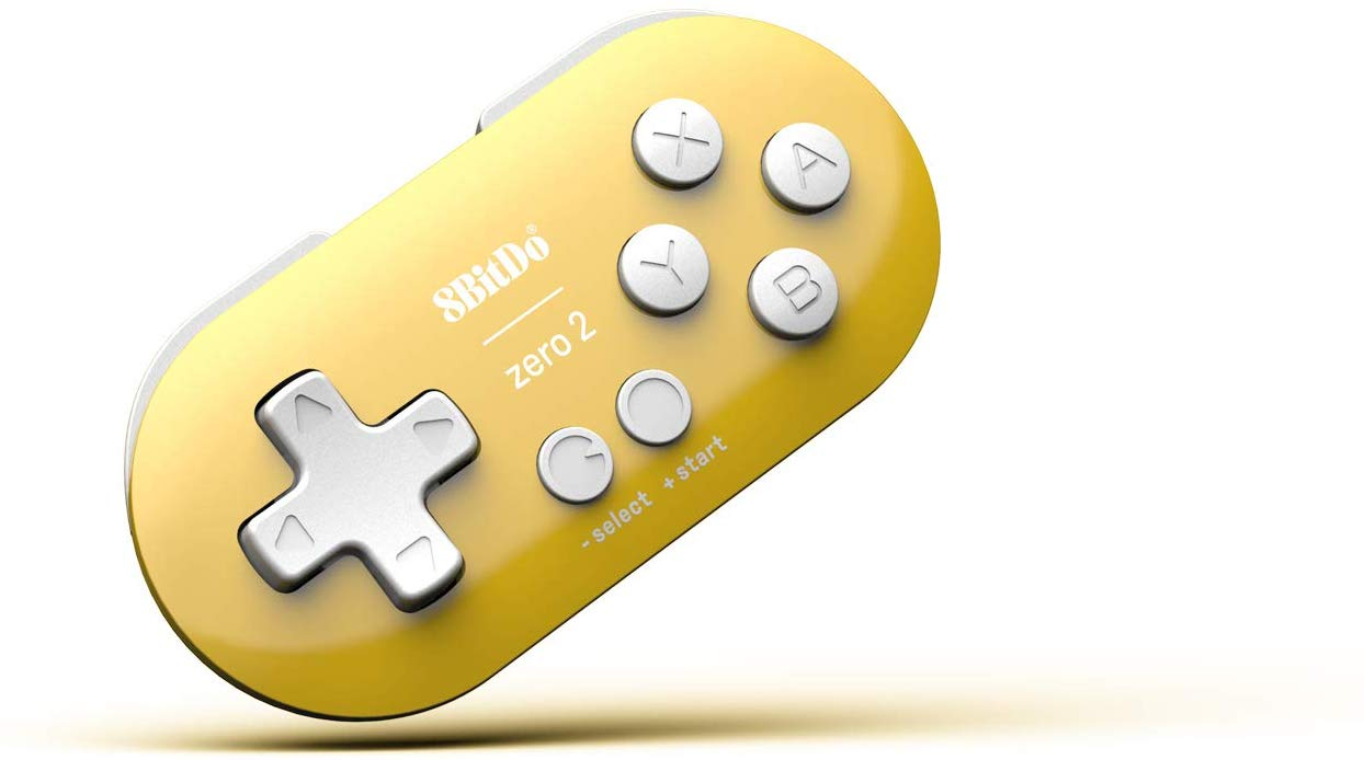 "Packshot for ""8BitDo Zero 2 Yellow Edition"""