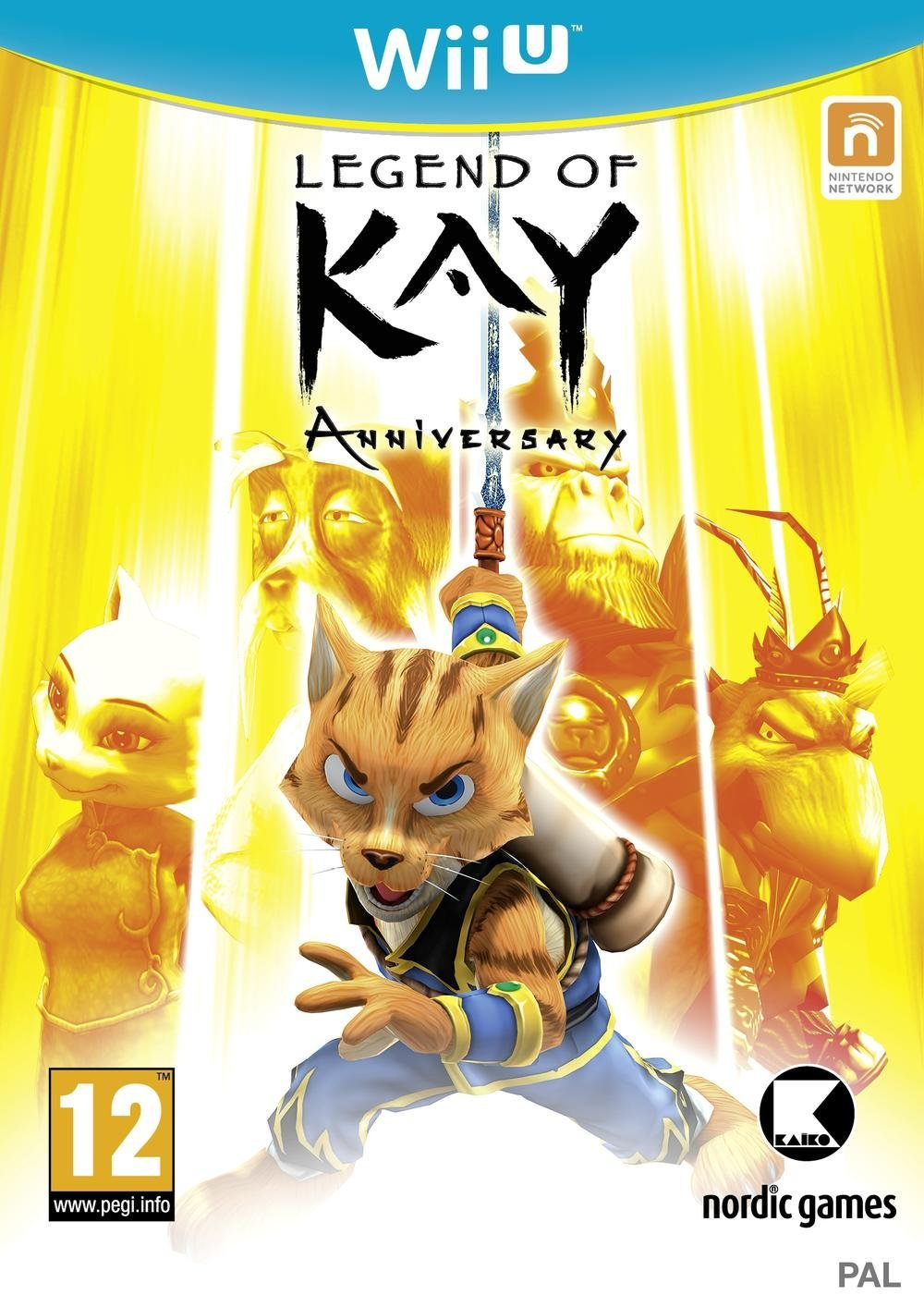 "Packshot for ""Legend of Kay WIIU"""