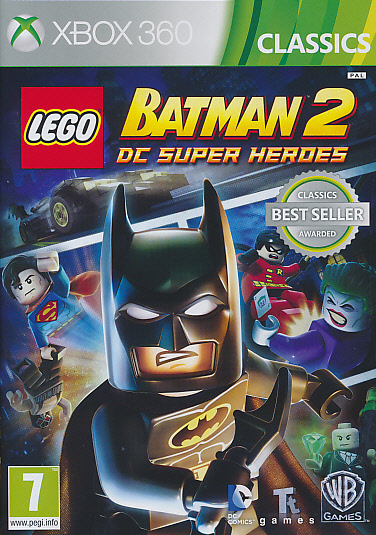 "Packshot for ""Lego Batman 2 DC Super. CLASS X360"""