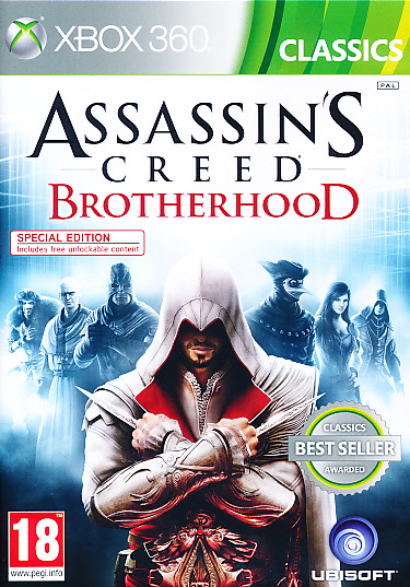 "Packshot for ""Assassins Creed Brother. CLASS X360"""