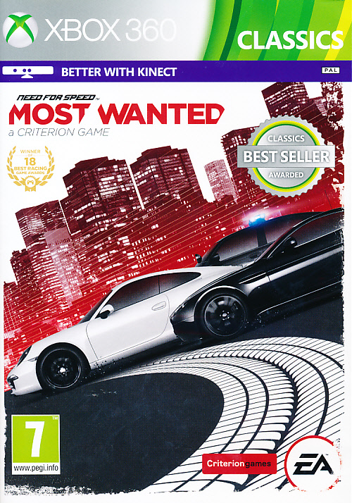 "Packshot for ""NFS Most Wanted (2012) CLASS X360"""