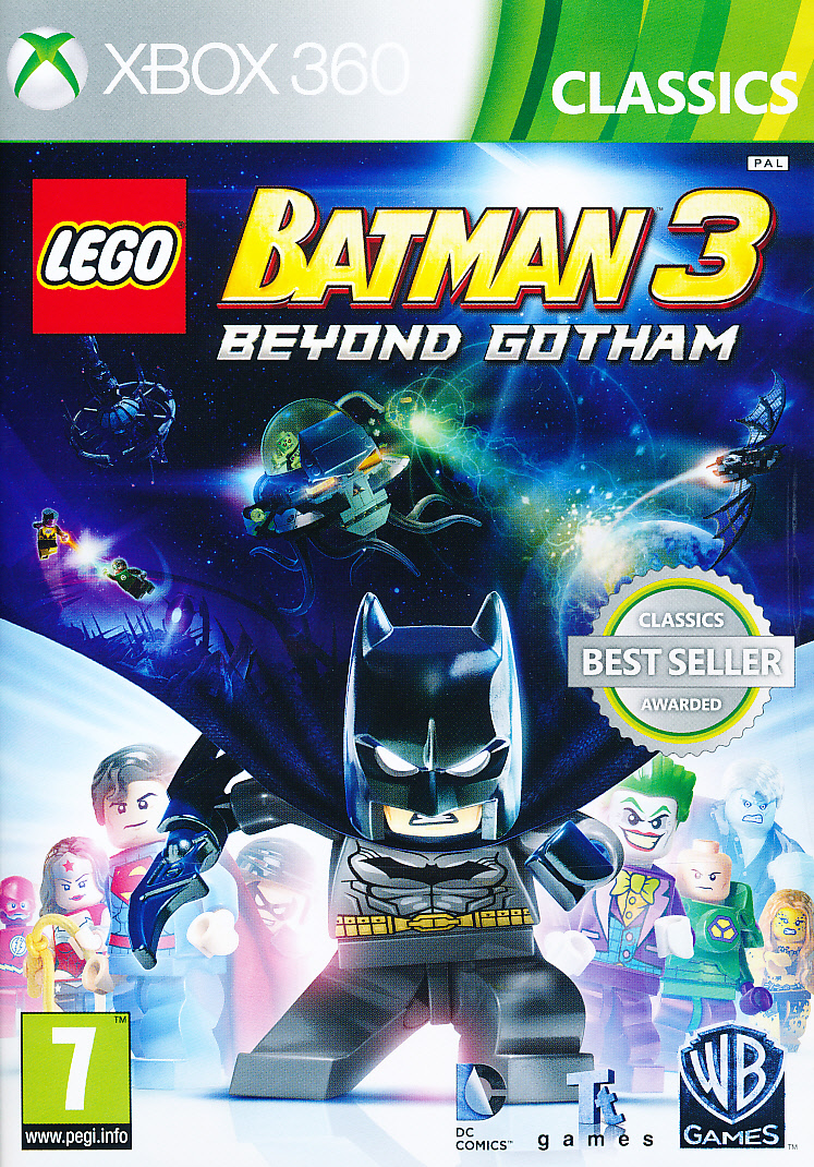 "Packshot for ""Lego Batman 3 Beyond Gotham X360"""