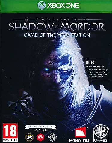 "Packshot for ""Middle Earth Shadow Mordor GOTY XBO"""