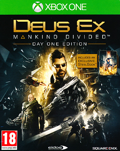 "Packshot for ""Deus Ex Mankind Divided D1 SteelXBO"""