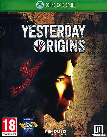 """Packshot for """"Yesterday Origins XBO"""""""