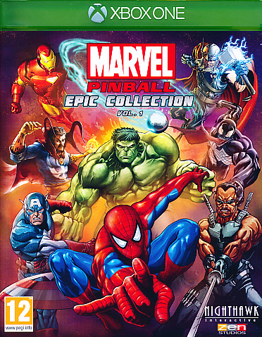 """Packshot for """"Marvel Pinball XBO"""""""