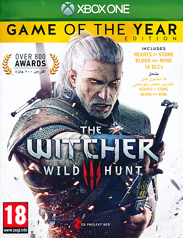 "Packshot for ""Witcher 3 Wild Hunt GOTY XBO"""