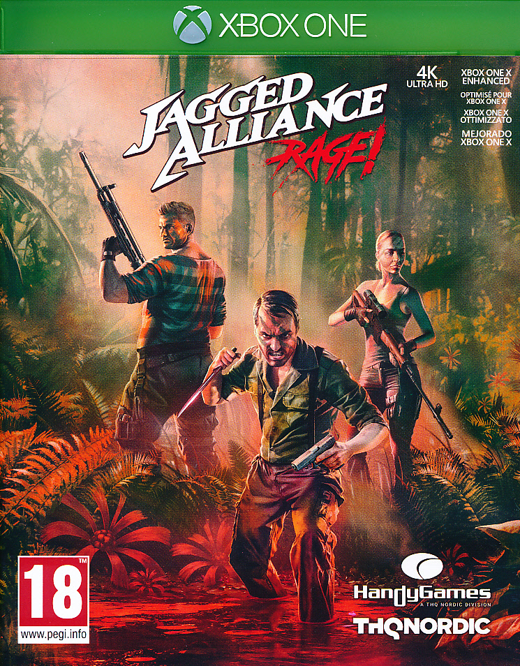 "Packshot for ""Jagged Alliance Rage XBO"""