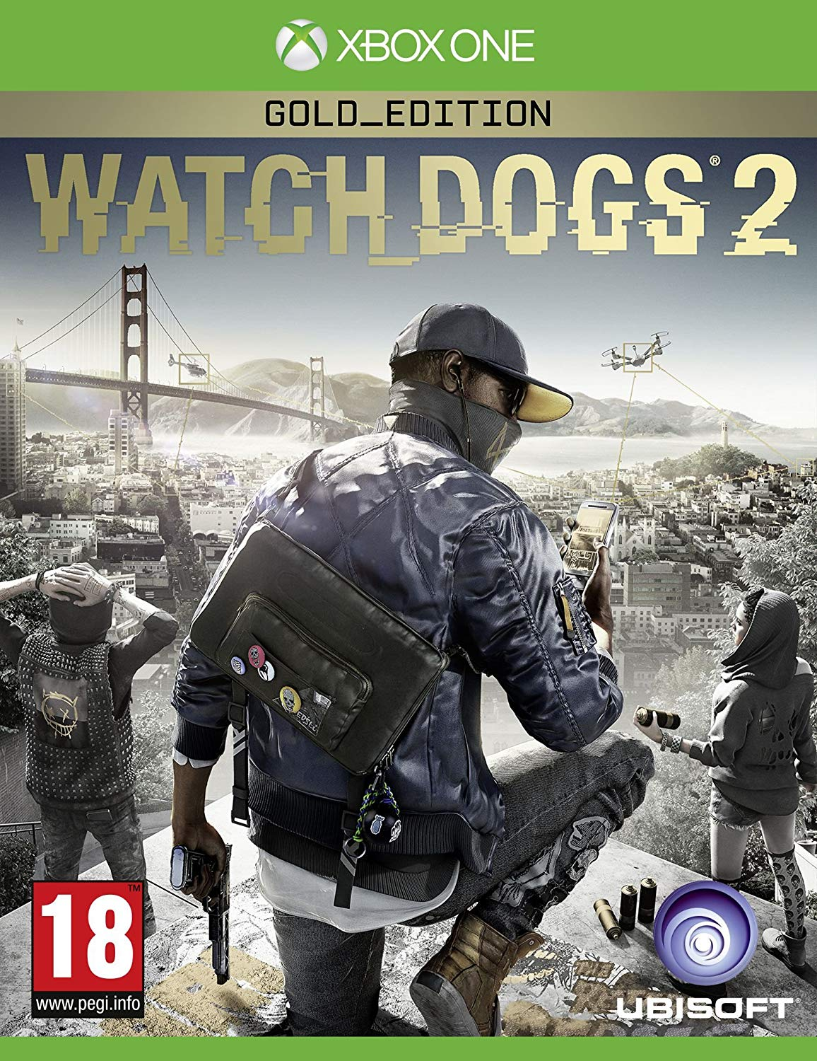 "Packshot for ""Watch Dogs 2 GOLD Ed. NORD XBO"""