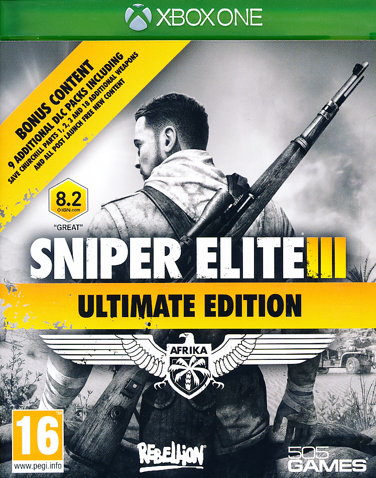 "Packshot for ""Sniper Elite 3 Ultimate Ed. XBO"""
