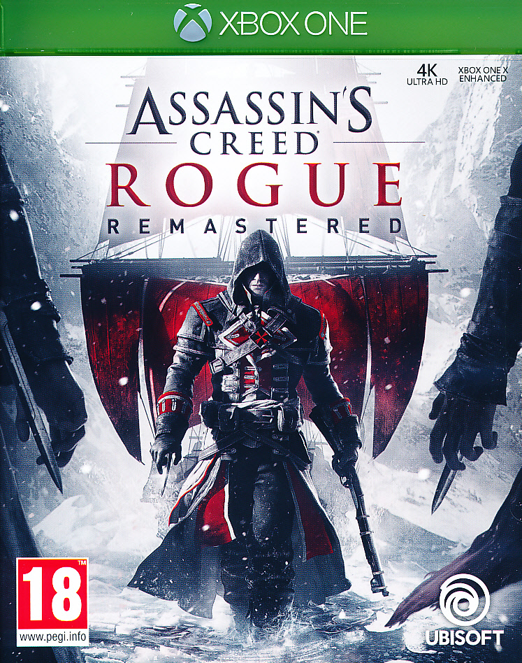 "Packshot for ""Assassins Creed Rogue RemasteredXBO"""