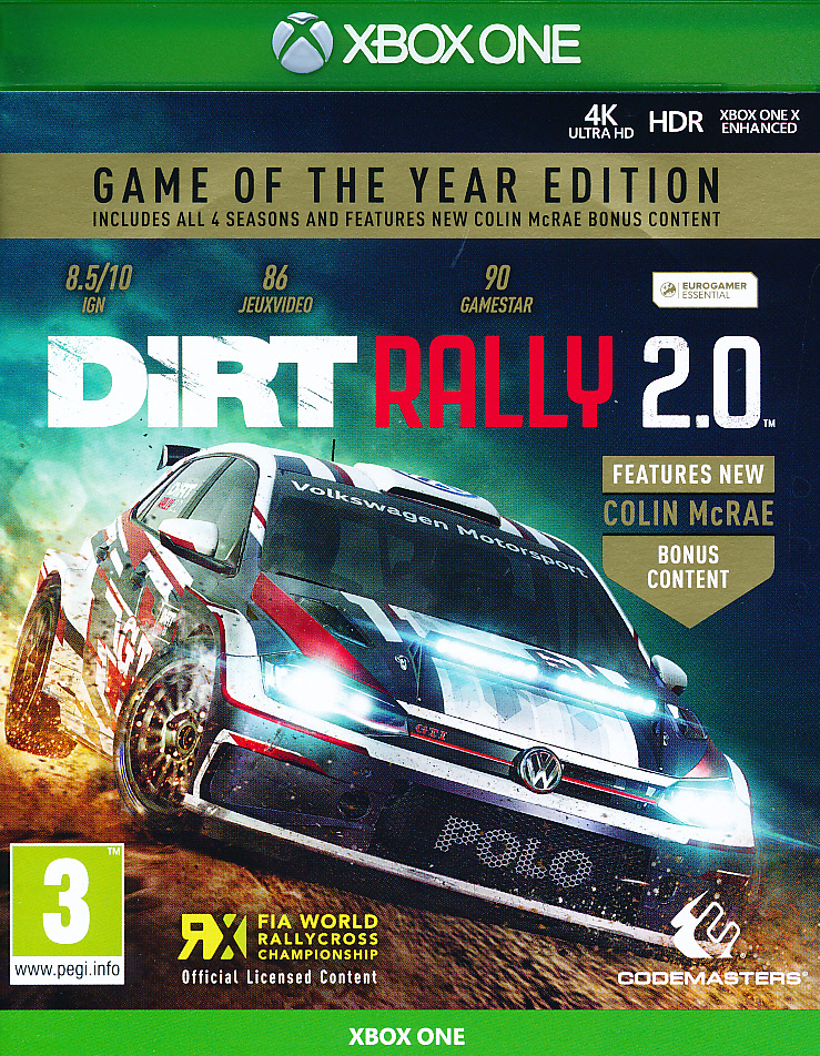 "Packshot for ""Dirt Rally 2.0 GOTY XBO"""