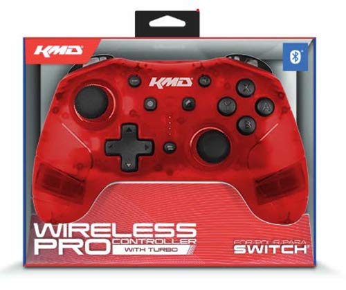 "Packshot for ""KMD Switch Pro WL Controller Red"""
