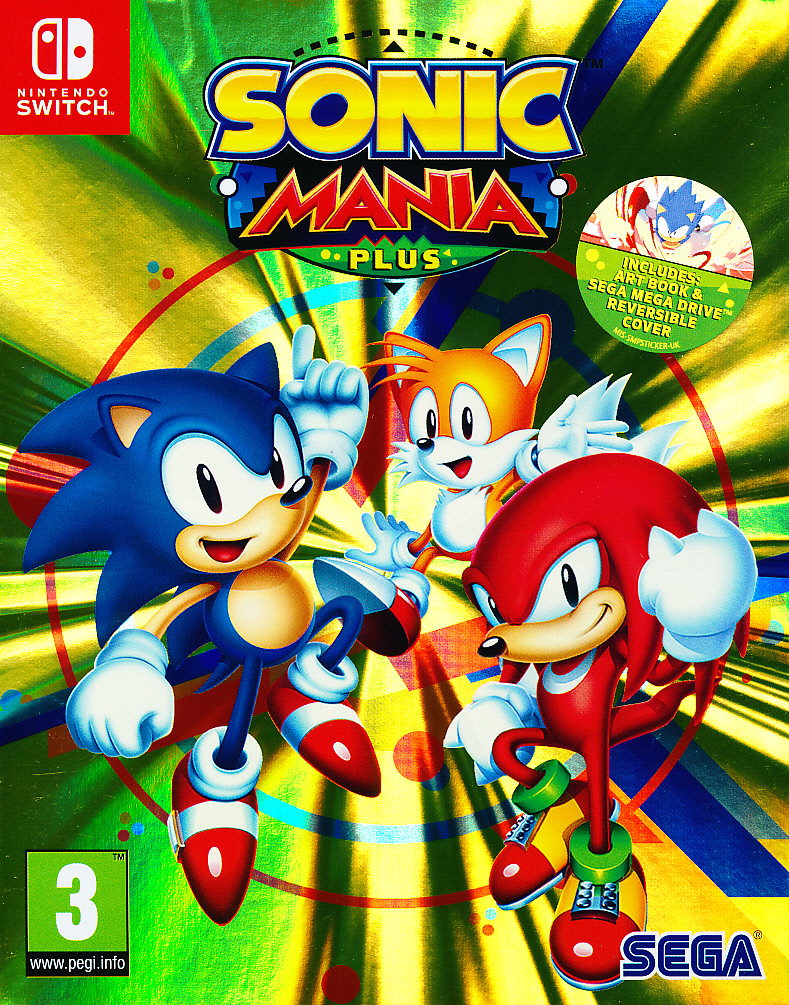 "Packshot for ""Sonic Mania Plus NS"""