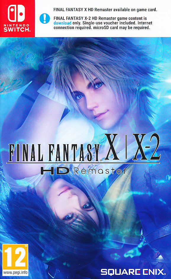 "Packshot for ""Final Fantasy X/X2 HD Remaster NS"""
