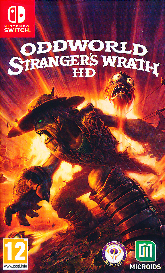 "Packshot for ""Oddworld Stranger's Wrath HD NS"""