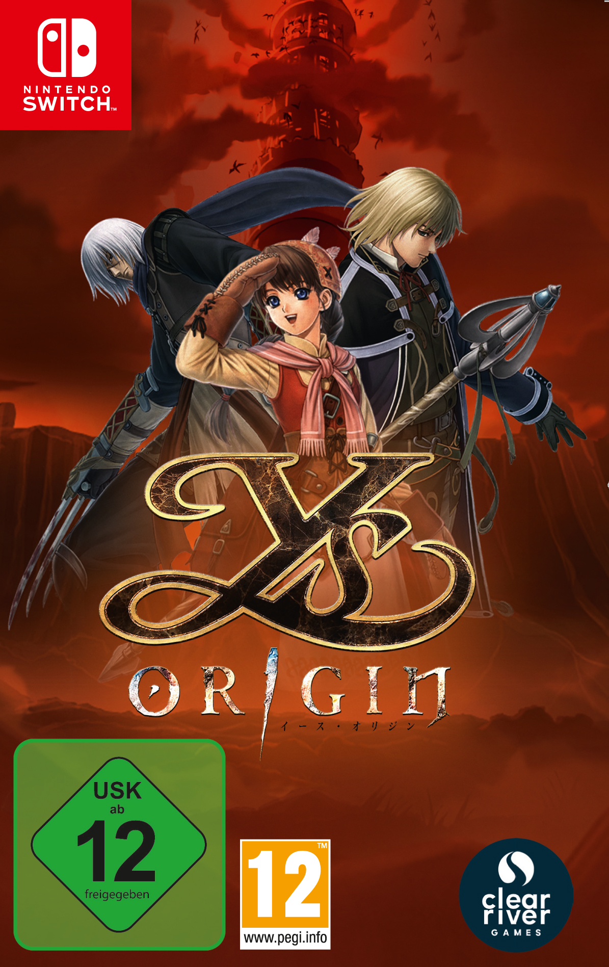 "Packshot for ""Ys Origin USK GER NS"""