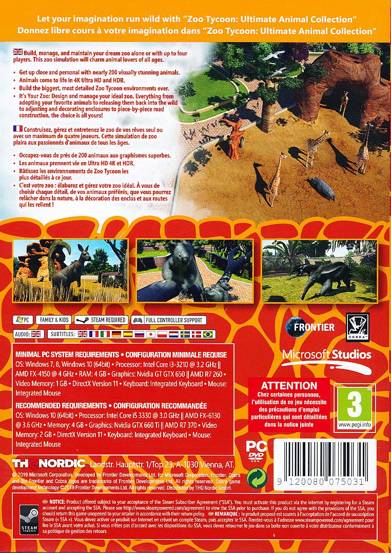 Zoo Tycoon Ultimate Animal Ed. PC