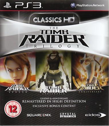 "Packshot for ""Tomb Raider Trilogy BBFC PS3"""
