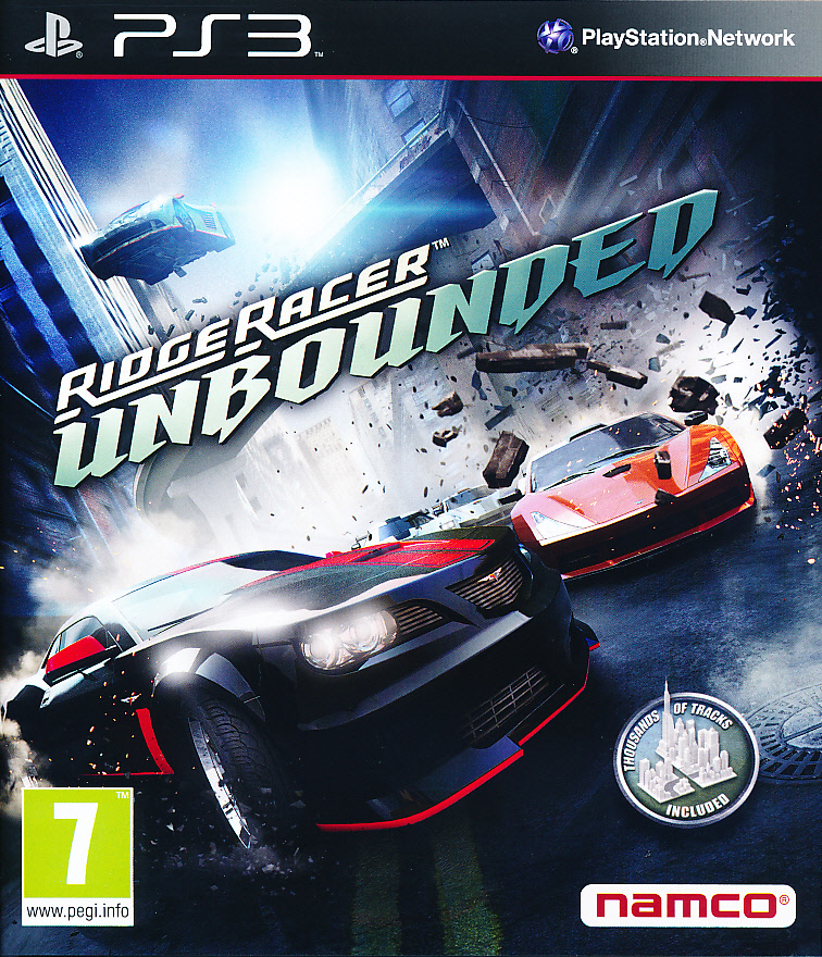 "Packshot for ""Ridge Racer Unbounded PS3"""