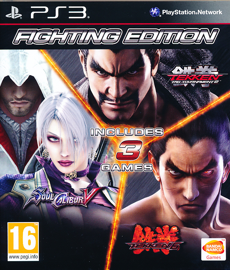 "Packshot for ""Tekken 6+TekkenT2+Soul C.5 PS3"""