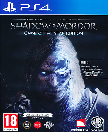 Middle Earth Shadow Mordor GOTY PS4