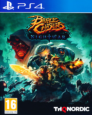 "Packshot for ""Battle Chasers Nightwar PS4"""