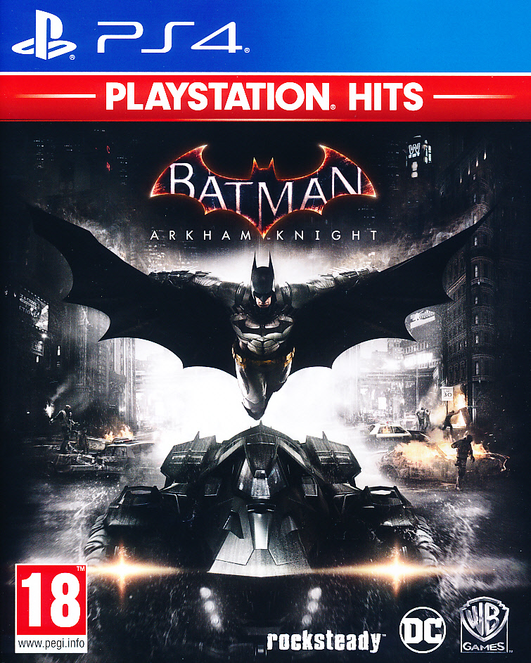 "Packshot for ""Batman Arkham Knight PS4"""