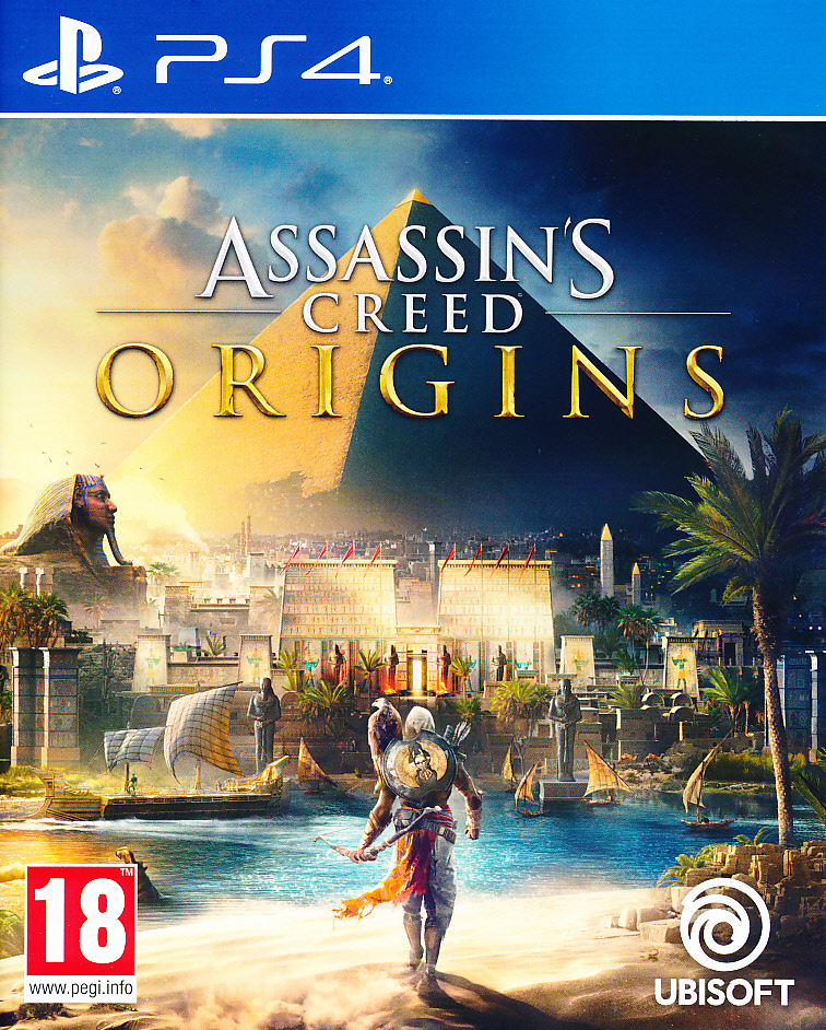 "Packshot for ""Assassins Creed Origins PS4"""