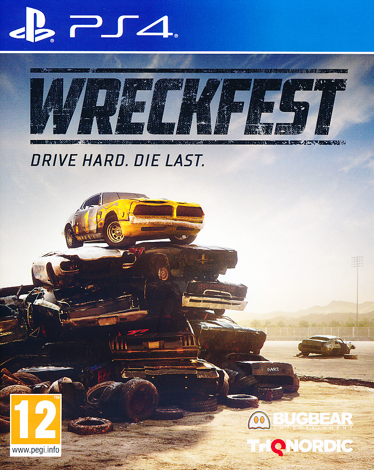 "Packshot for ""Wreckfest PS4"""