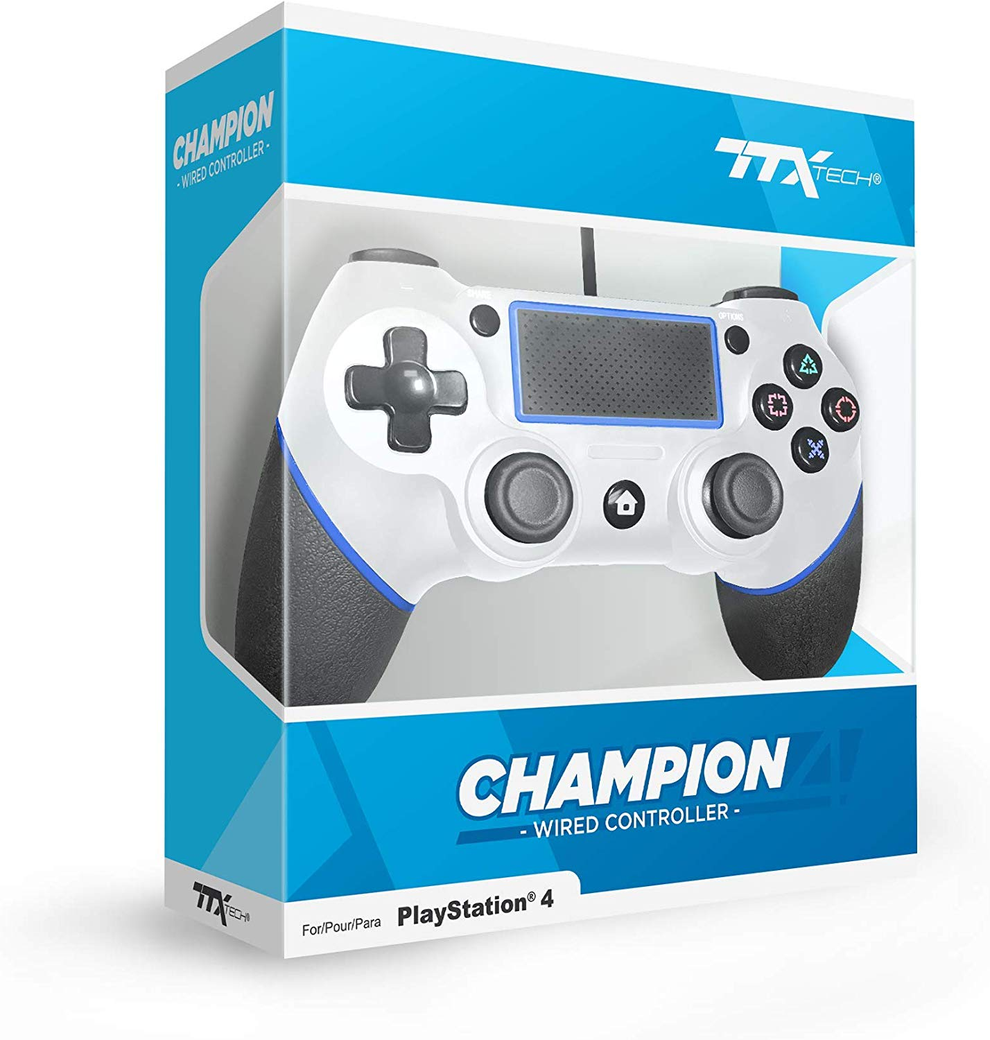 """Packshot for """"TTX PS4 Champion Wired Cont. White"""""""