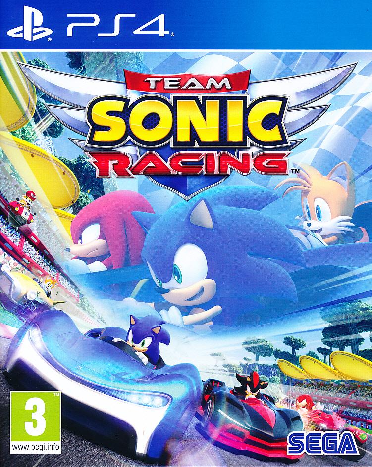 "Packshot for ""Team Sonic Racing PS4"""