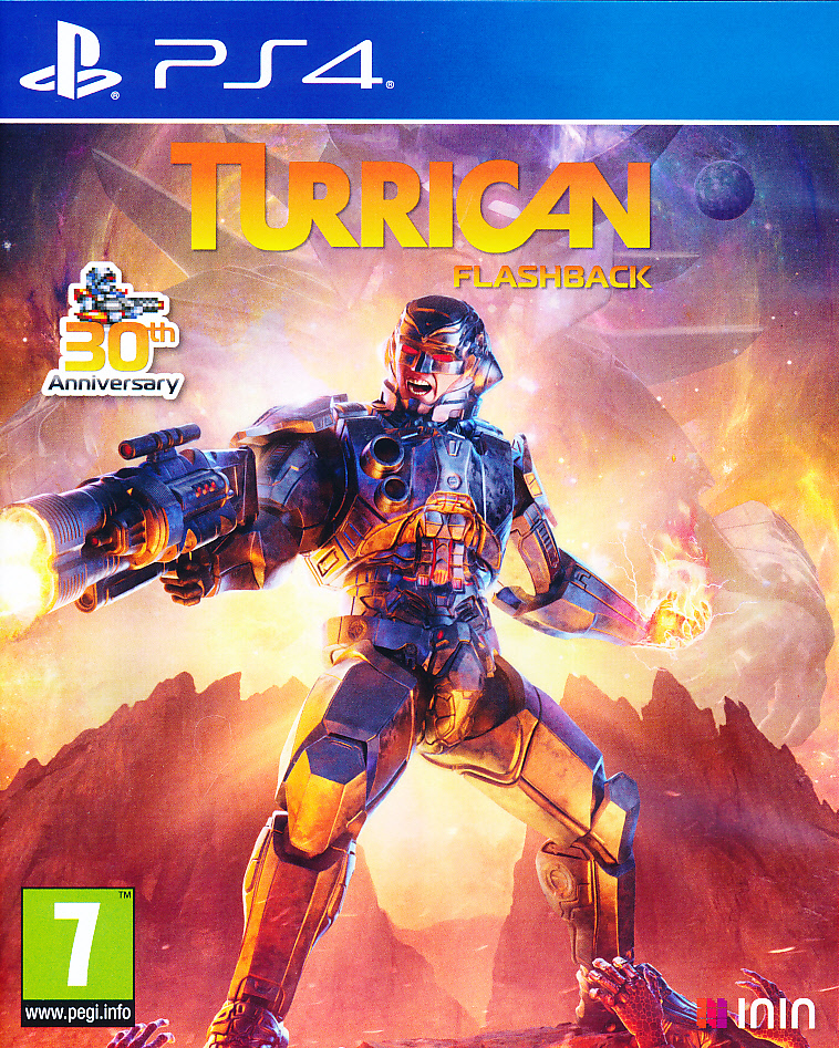 "Packshot for ""Turrican Flashback PS4"""