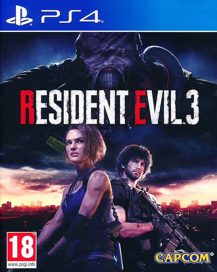 "Packshot for ""Resident Evil 3 Remake PS4"""