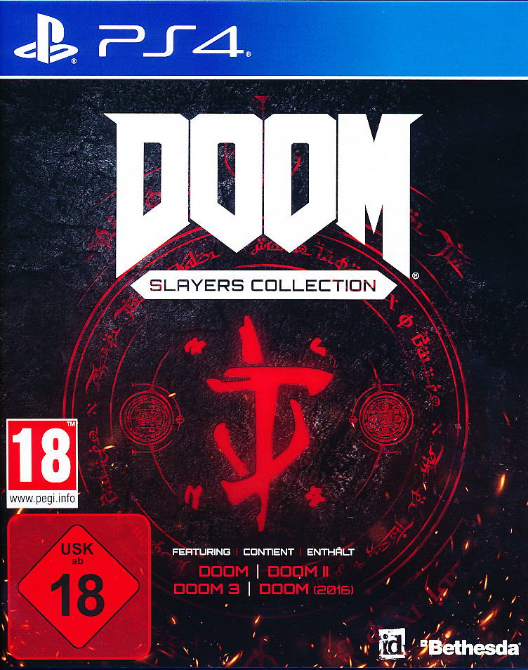 "Packshot for ""Doom Slayers Collection PS4"""