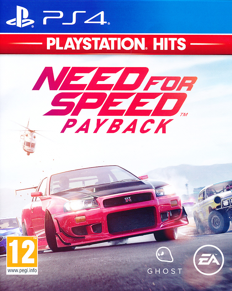 "Packshot for ""Need for Speed Payback PS4"""