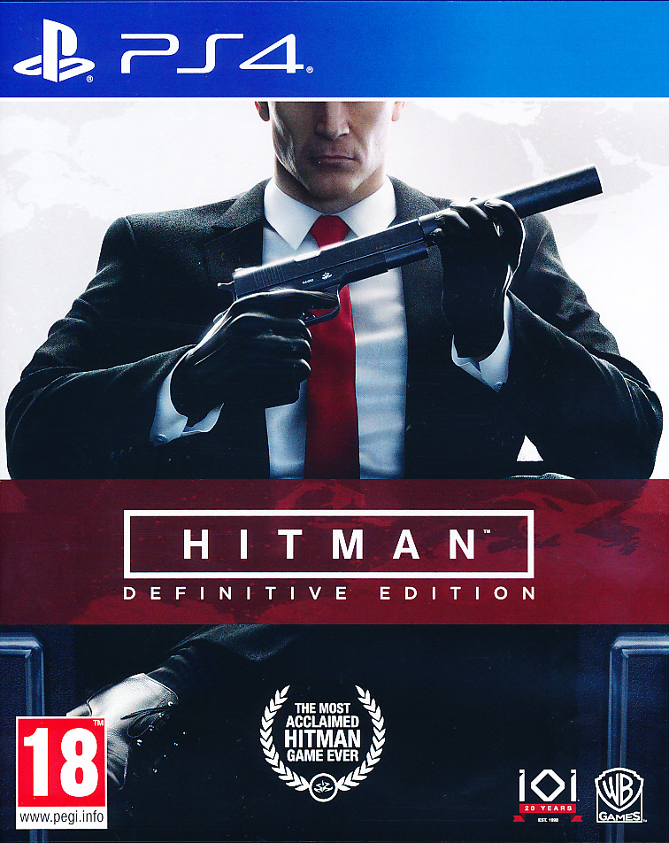 "Packshot for ""Hitman Definitive Edition PS4"""