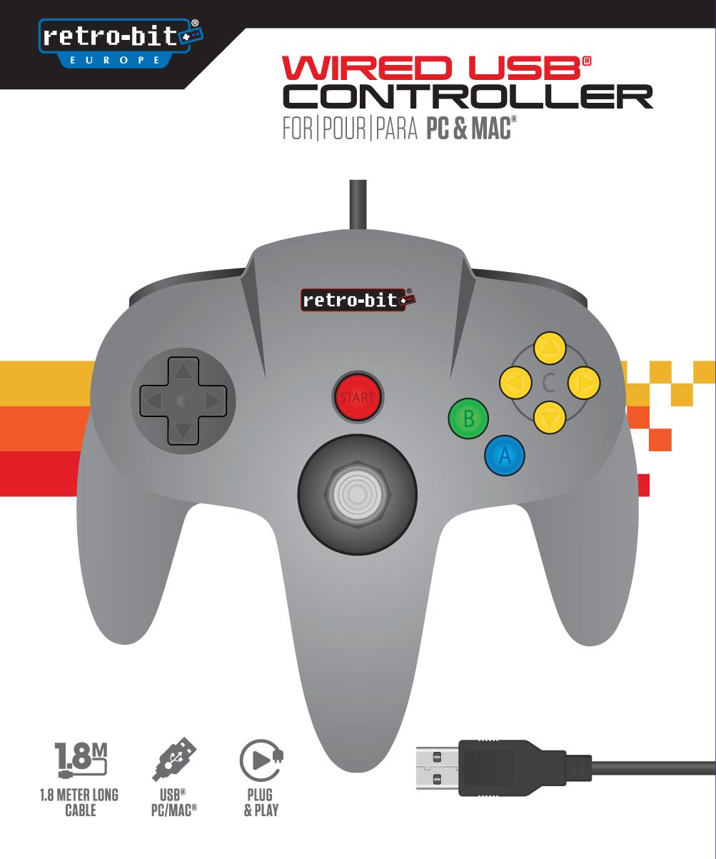 Retro-Bit Classic 64-Bit C. GreyUSB